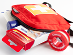 Smaller image of first aid bag with plasters - Elastoplast
