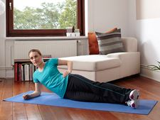 Lie on side with body resting on lower arm position - Elastoplast
