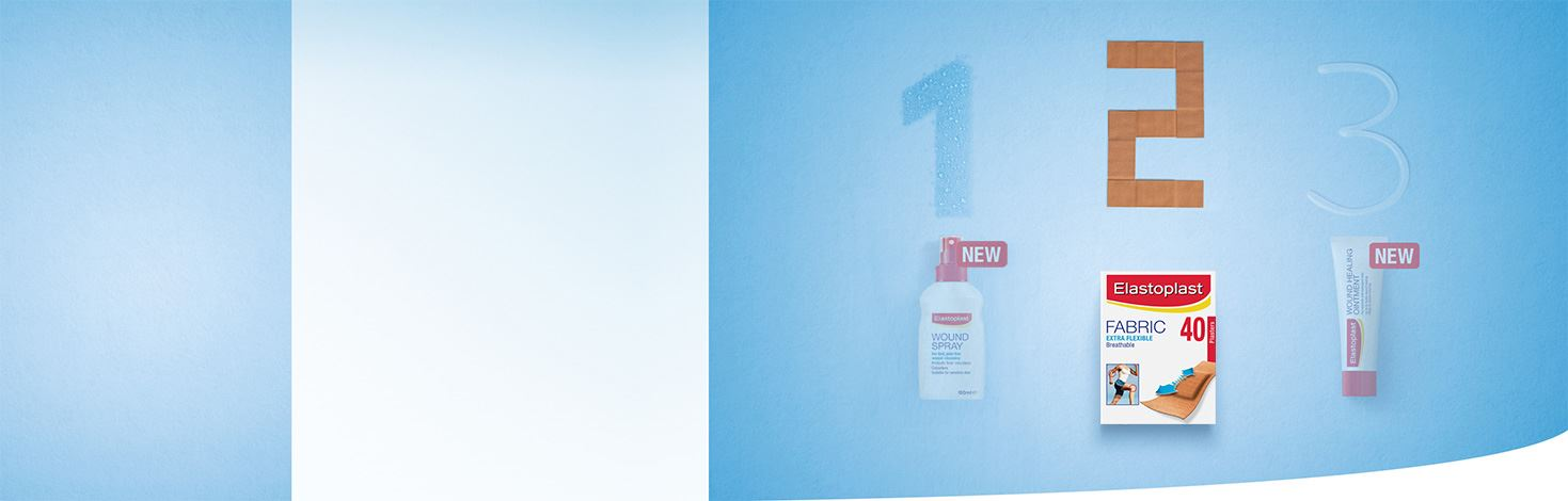 1-2-3 Elastoplast Wound Care routine products - Elastoplast plasters
