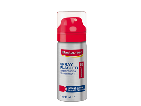 Elastoplast First Aid Spray Plaster Waterproof and Transparent Shield