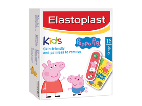 Elastoplast Peppa Pig Kids Plasters  Skin-friendly wound protection
